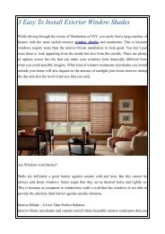 3 Easy To Install Exterior Window Shades