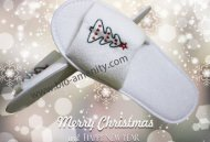 Christmas embroidery slipper