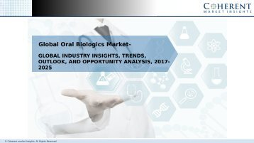 Oral Biologics Market - Global Industry Insights, and Opportunity Analysis, 2025