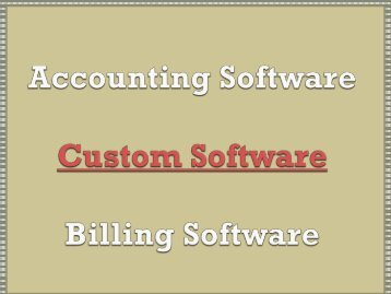 Accounting Software, Custom Software, Billing Software, Small Business, Online Accounting
