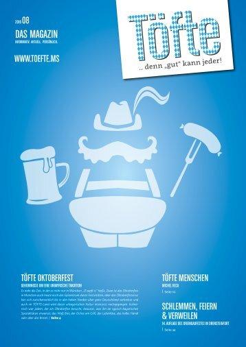 Töfte Regionsmagazin 08/2016 - Oktoberfest