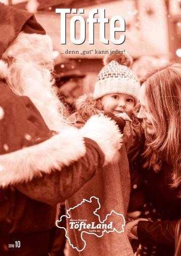 Töfte Regionsmagazin 10/2016 - Weihnachten