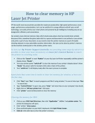 How to clear memory in HP Laser Jet Printer