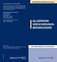 ALLGEMEINE VERSICHERUNGS- BEDINGUNGEN - Barclaycard
