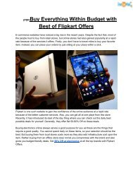 [PDF]Buy Everything Within Budget with Best of Flipkart Offers