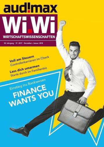 audimax WiWi 12/2017 - Das Karrieremagazin für Wirtschaftswissenschaftler