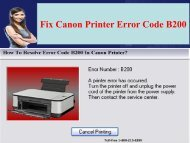 1-800-213-8289 Canon Printer Error Code B200