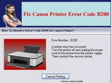 1-800-213-8289 Canon Printer Error Code B200