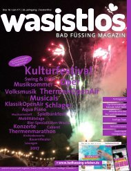 wasistlos Bad Füssing Magazin Dezember 2016 / Januar 2017