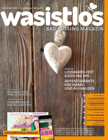 wasistlos Bad Füssing Magazin November 2016
