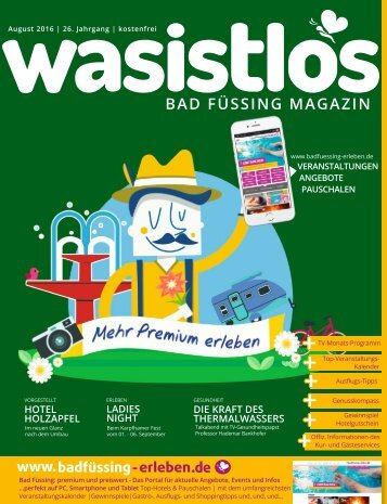 wasistlos Bad Füssing Magazin August 2016