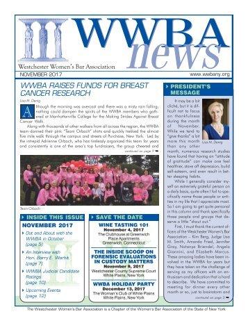 WWBA November 2017 Newsletter