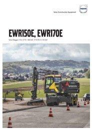 Volvo Mobilbagger EWR150E-EWR170E Datenblatt Produktbeschreibung