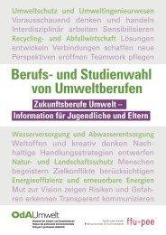 Ratgeber - Berufs- und Studienwahl von Umweltberufen