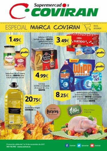 Folleto Ofertas COVIRAN Supermercados del 7 al 18 de Noviembre 2017