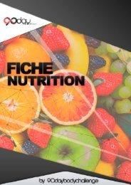 Fiche Nutrition