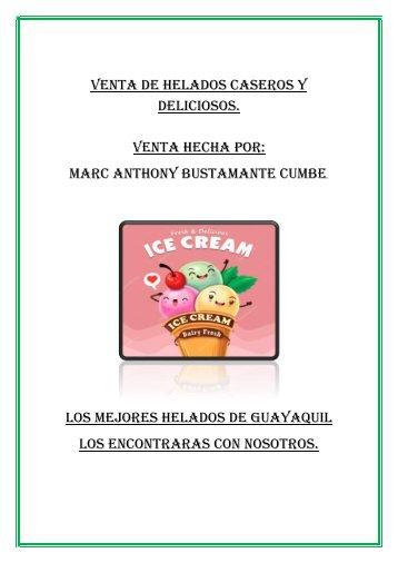 Venta de helados caseros y deliciosos