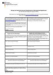 Antrag auf Anerkennung als Einsatzstelle im Bundesfreiwilligendienst