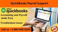 QuickBooks Payroll Support 1-800-449-0204