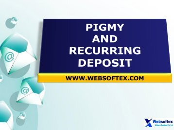 Pigmy Deposit Interest Calculator, Nidhi Bank, Daily Collection, EMI Collection Software, Pigmy Solution