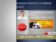 1-800-213-8289 Canon Printer Error State