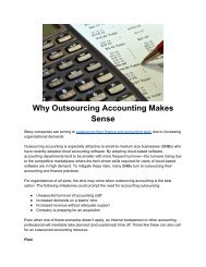 Why Outsourcing Accounting Makes Sense