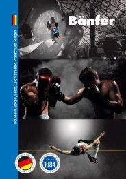SPORTKATALOG für Bouldern, Boxen, Budo, Leichtathletikm Prallschutz, Ringen