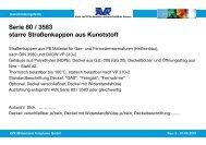 Serie 80 / 3583 starre Straßenkappen aus Kunststoff - AVK Mittelmann