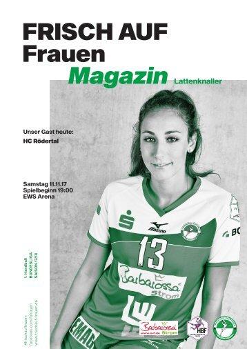 """Ausgabe 2 - Saison 2017/2018 - FRISCH AUF Frauen Magazin """"LATTENKNALLER"""""""