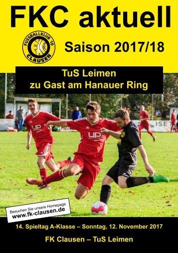 14. Spieltag (12. November 2017