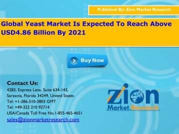 Global Yeast Market, 2015 – 2021