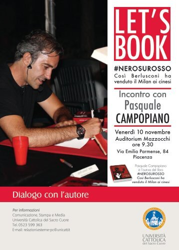 Let's book Pasquale Campopiano