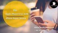Fix Apple iPhone Error Code 3194