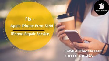 Fix Apple iPhone Error Code 3194