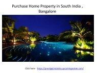 Prestige Jindal  City    Location   Price   Bangalore