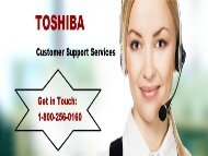 Toshiba Customer Support Number 1-800-256-0160