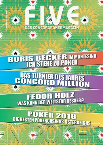 FIVE - Das Concord Poker Magazin