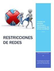 rESTRICCIONES DE REDES 2