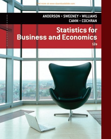 Statistics For Business And Economics 12th Edition