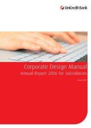 UniCredit Bank Manual   2007