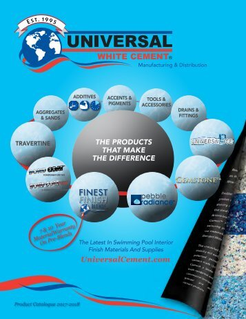 2017-2018 Universal Cement Catalogue