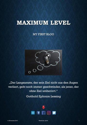 Blog #1 Maximum_Level