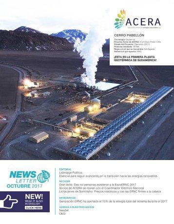 Newsletter ACERA - Octubre 2017