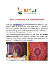 What is available in a Tapestries store