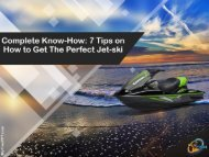 Complete Know-How 7 Tips on How to Get The Perfect Jet-ski