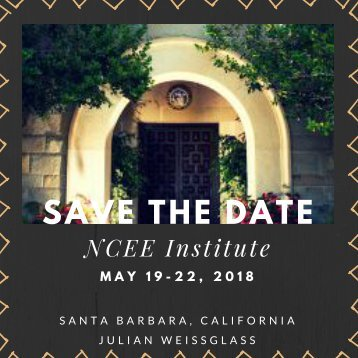NCEE Institute.Save the Date