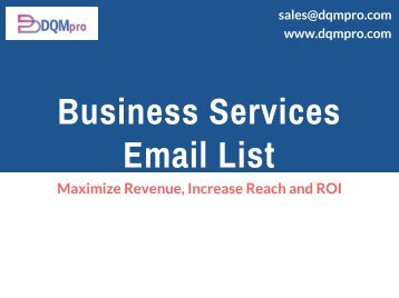 Business Services Mailing List | Business Services Marketing Database