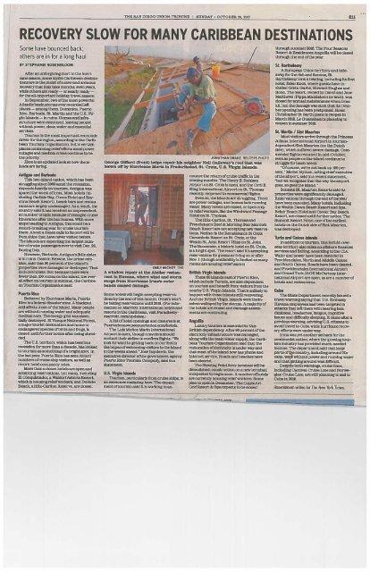 SDUT article - Caribbean Recovery 2017
