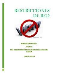 Restricciones de red