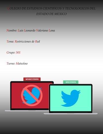 Restricciones de la red